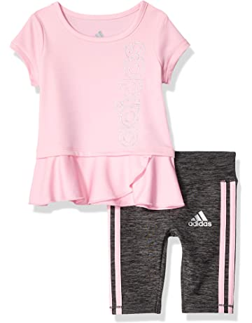73abbc1846c2 adidas Baby Girls Capri Tight Set