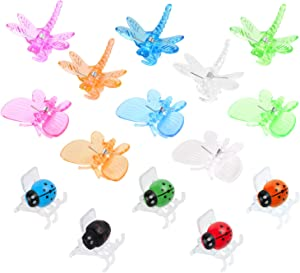 90 Pcs Butterfly Orchid Clips Dragonfly Orchid Clips Ladybird Clips Plant Clips for Plant Vines Garden Support Clips Cute Flower Clips(30Pcs Each)