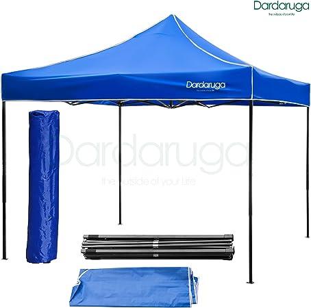 DARDARUGA Pabellon de Jardin cenador Capri Beige 3x3 m Carpa Plegable de jardín Impermeable y Pop Up para Eventos Camping azul: Amazon.es: Jardín