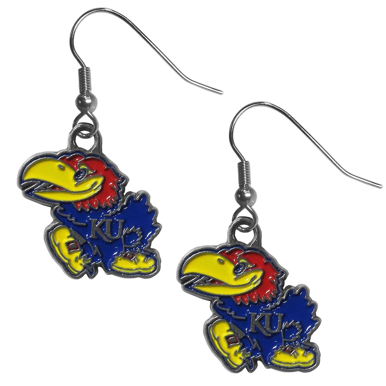 Siskiyou NCAA Kansas Jayhawks Dangle Earrings Metal