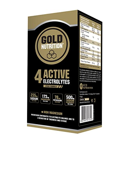 GoldNutrition 4 Active Electrolytes - Suplemento, maximiza el rendimiento y garantiza una recuperación más rápida