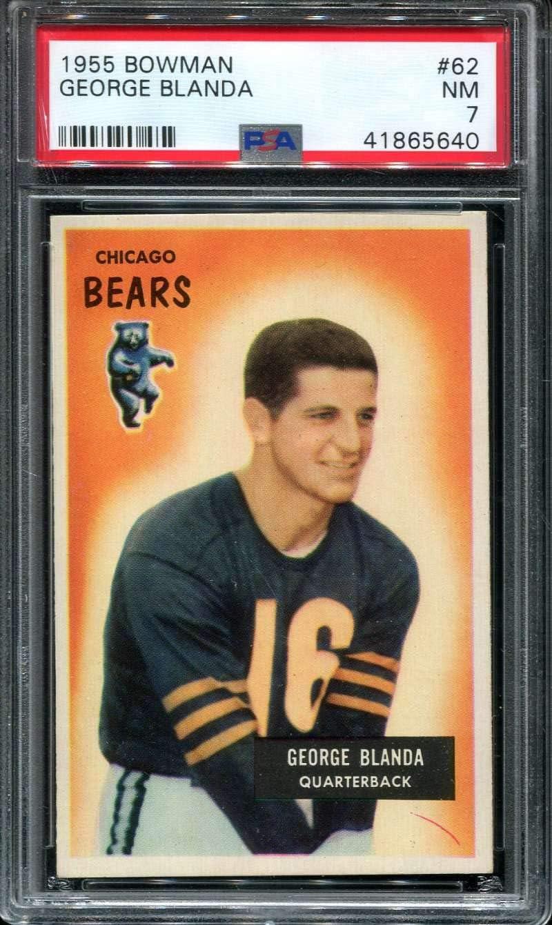 1955 Bowman Football #062 George Blanda PSA 7 NM P41865640