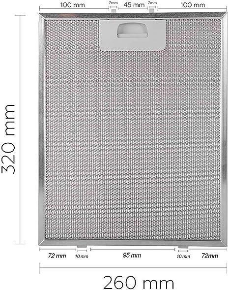 Recamania Filtro Campana extractora Teka DM60 DM90 DE90 DS90 40472918: Amazon.es: Hogar