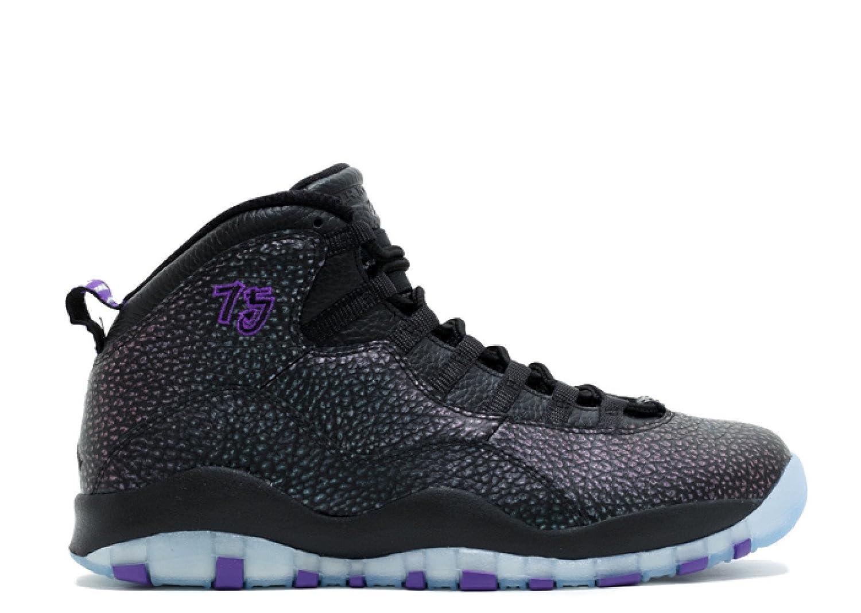 9fd2ac3d Amazon.com   Nike air Jordan Retro 10 Mens hi top Basketball Trainers  310805 Sneakers Shoes (US 9.5, Black firece Purple Black 018)   Basketball