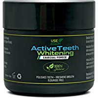 Activated Teeth Whitening Charcoal Powder By UseAgain 100% Natural - ULTRA Fine Organic Coconut Charcoal Powder – Sweet Mint Flavour - Toothpaste Sensation
