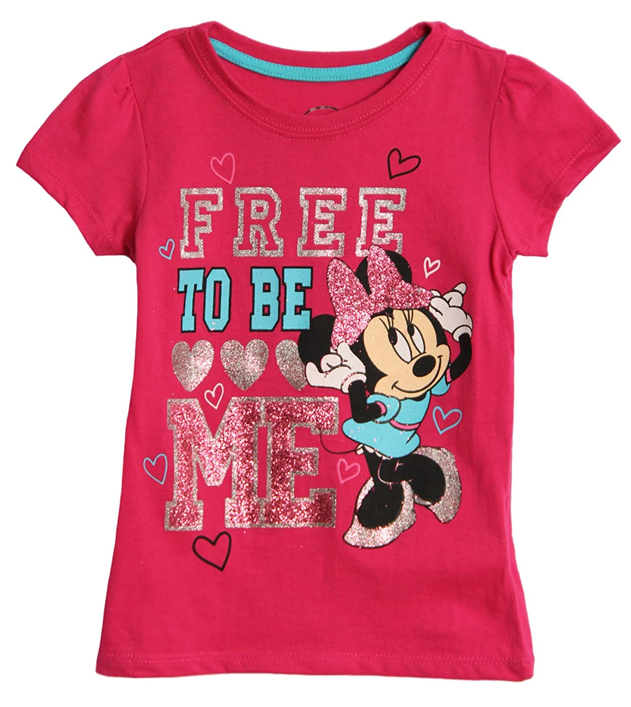 Minnie Mouse Toddler Girls Shirt Free to Be Me Tee Pink