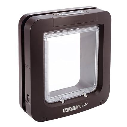 Amazon Sureflap Microchip Pet Door In Brown Large Pet Supplies