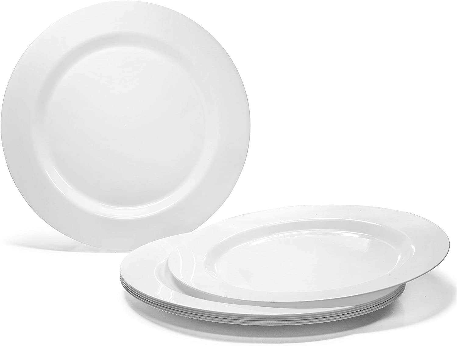 Occasions 120 Plates Pack Heavyweight Disposable Wedding Party Plastic Plates 6 25 Dessert Bread Plate Plain White Kitchen Dining