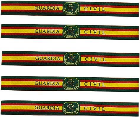 ALBERO 5 x Pulsera Guardia Civil Tela. Fabricado en España. 5 Unidades. 30 x 1.50cm: Amazon.es: Joyería