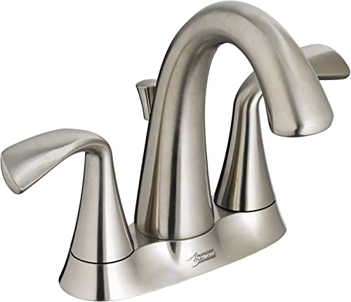 American Standard 7186203.295 Fluent 4 in. Centerset Bathroom Faucet With Speed Connect Drain in Satin Nickel