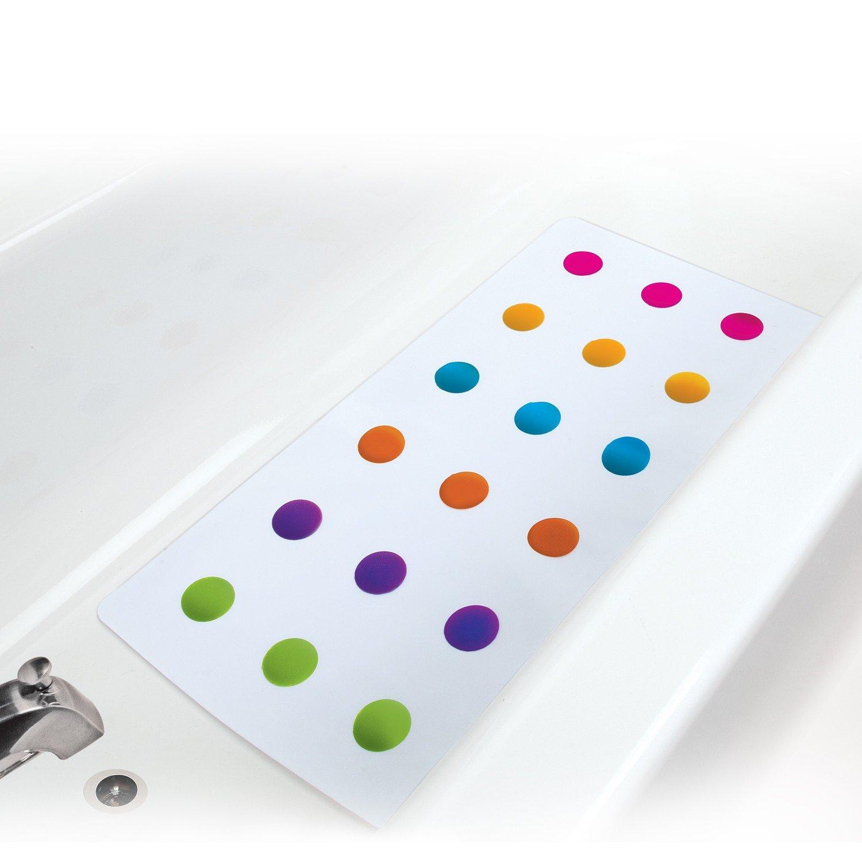 White Munchkin Dandy Dots Bath Mat