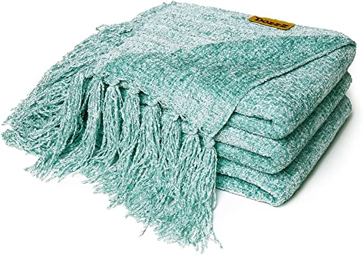 chenille throw blanket pottery barn