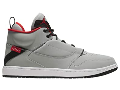 a135f725203c19 Jordan Fadeaway - Mens Wolf Grey University Red Black White Nylon Casual  Shoes