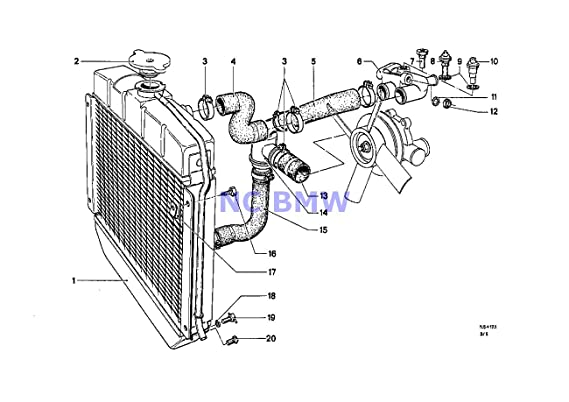 Amazon Com Bmw Genuine Radiator Cooling System Thermostat Divider