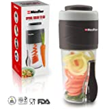 Mueller - Spiralizer - Veggie Pasta Maker - Salad To Go Cup - All-In-One Food Prepper, Comes with BPA Free Fork, Salad Dressing/Spice-Nut Containers