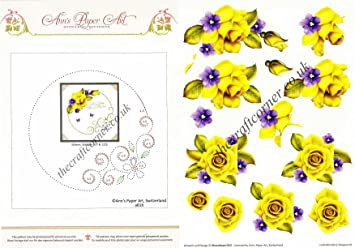 Flower border paper embroidery rose flowers 3d decoupage sheet flower border paper embroidery rose flowers 3d decoupage sheet mightylinksfo