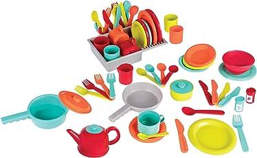Battat - Deluxe Kitchen - Pretend Play Accessory Toy Set (71 Pieces Including Pots & Pans)