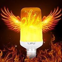 LIFU E26/ E27 LED Flame Effect Fire Light Bulbs