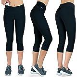 Formbelt® Leggings Sportivi da Donna a Tre Quarti con Marsupio per Cellulare Pantaloni da Corsa Fitness Sport Fuseaux Colorati