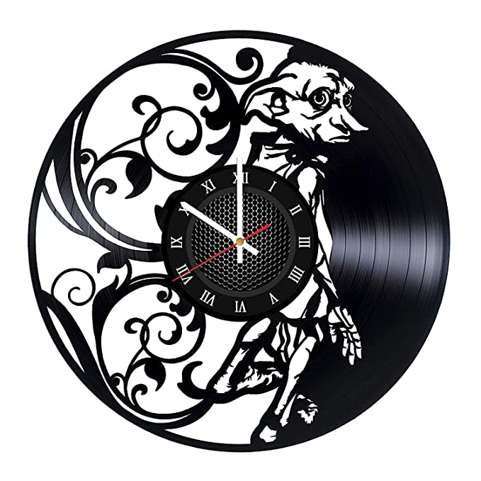 Amazon.com: Dobby Harry Potter Vinyl Wall Clock - Original Present for Harry Potters Fans -Wall Art Room Decor Handmade Birthday Gift - Vintage Decoration: ...