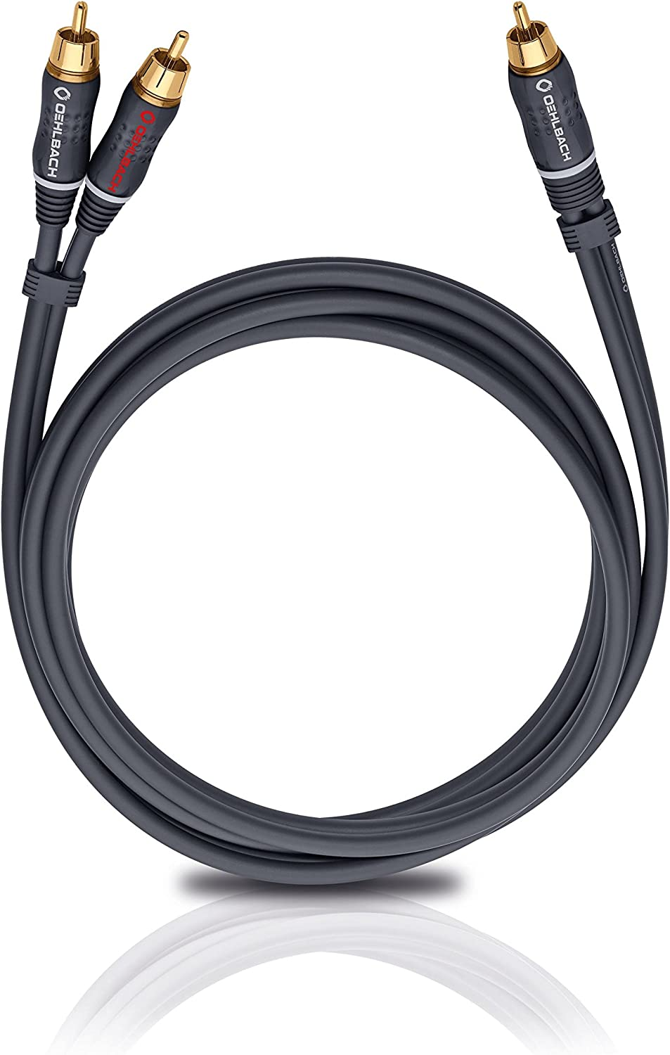 Antracita Oehlbach Booom! Cable para subwoofer de 8 m