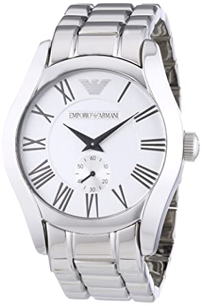 c279b5d13b7a Buy Emporio Armani Classic Analog Silver Dial Men s Watch - AR0647 Online  at Low Prices in India - Amazon.in