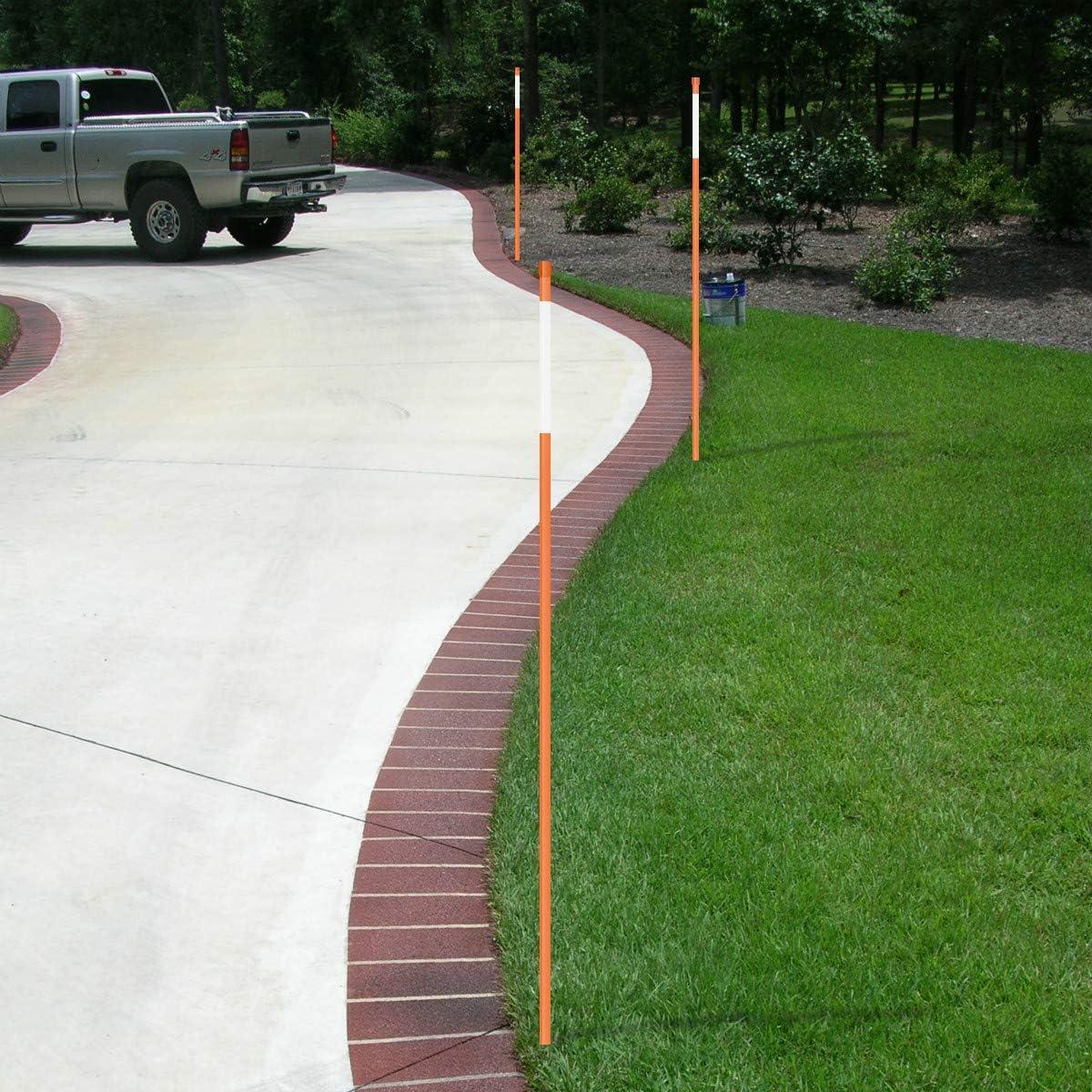 Orange ,5//16 x36 ,25 Pack Reflective Belt Driveway Marker plow Pile Hollow Eco.Fabric Snow Pole