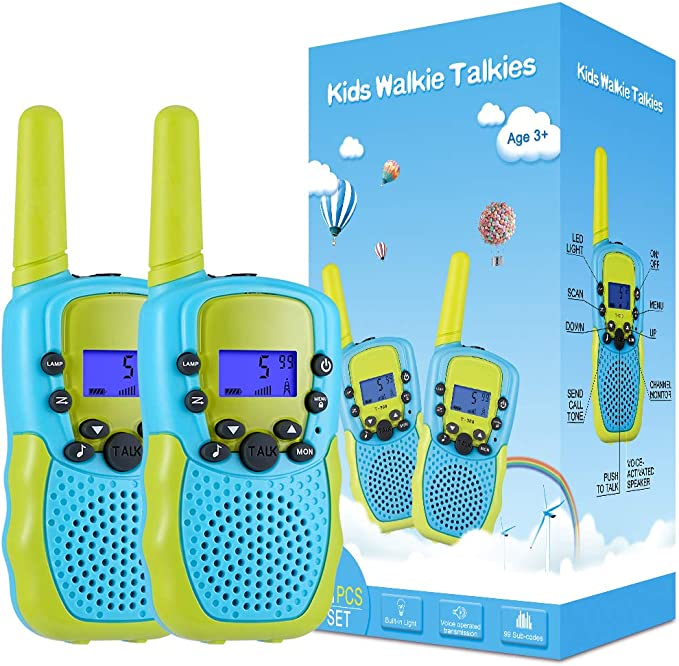 Walkie Talkies for Kids 2 Way Radio Toy with Backlit LCD Flashlight, 3 Miles Range for Outside, Camping, Hiking