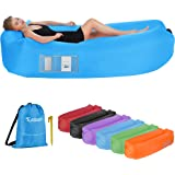 EDEUOEY Inflatable Lounger Air Sofa: Waterproof Beach Travel Outdoor Recliner Gift Filled Sleeping Accessories Blow Up Pouch