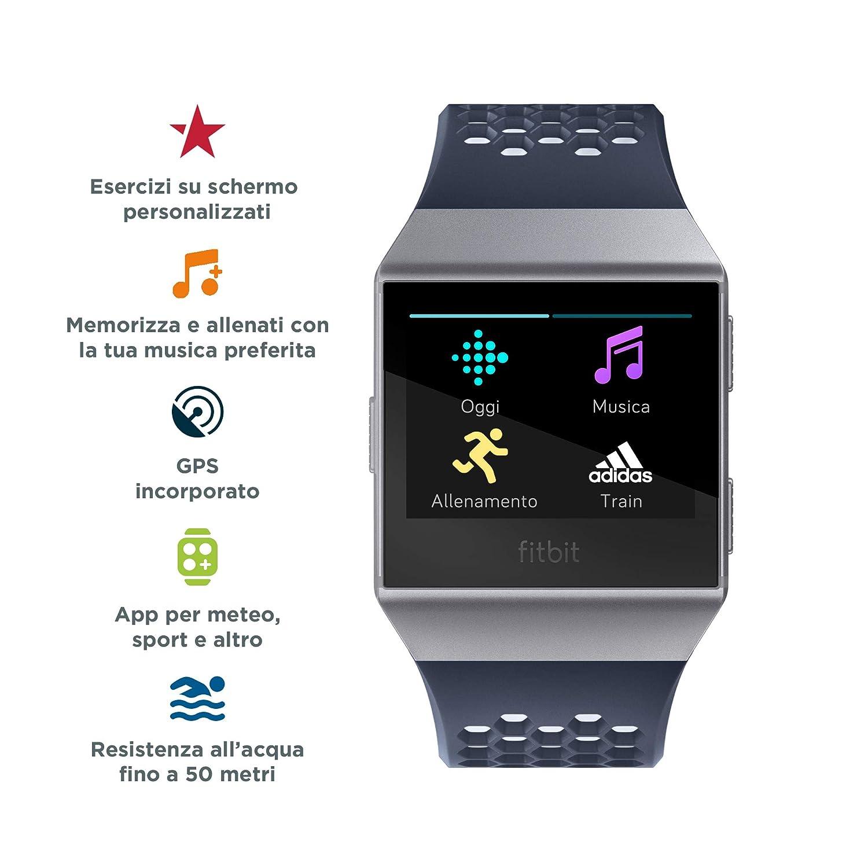 FB503GYBK One Size Fitbit Ionic Smartwatch Charcoal//Smoke Gray