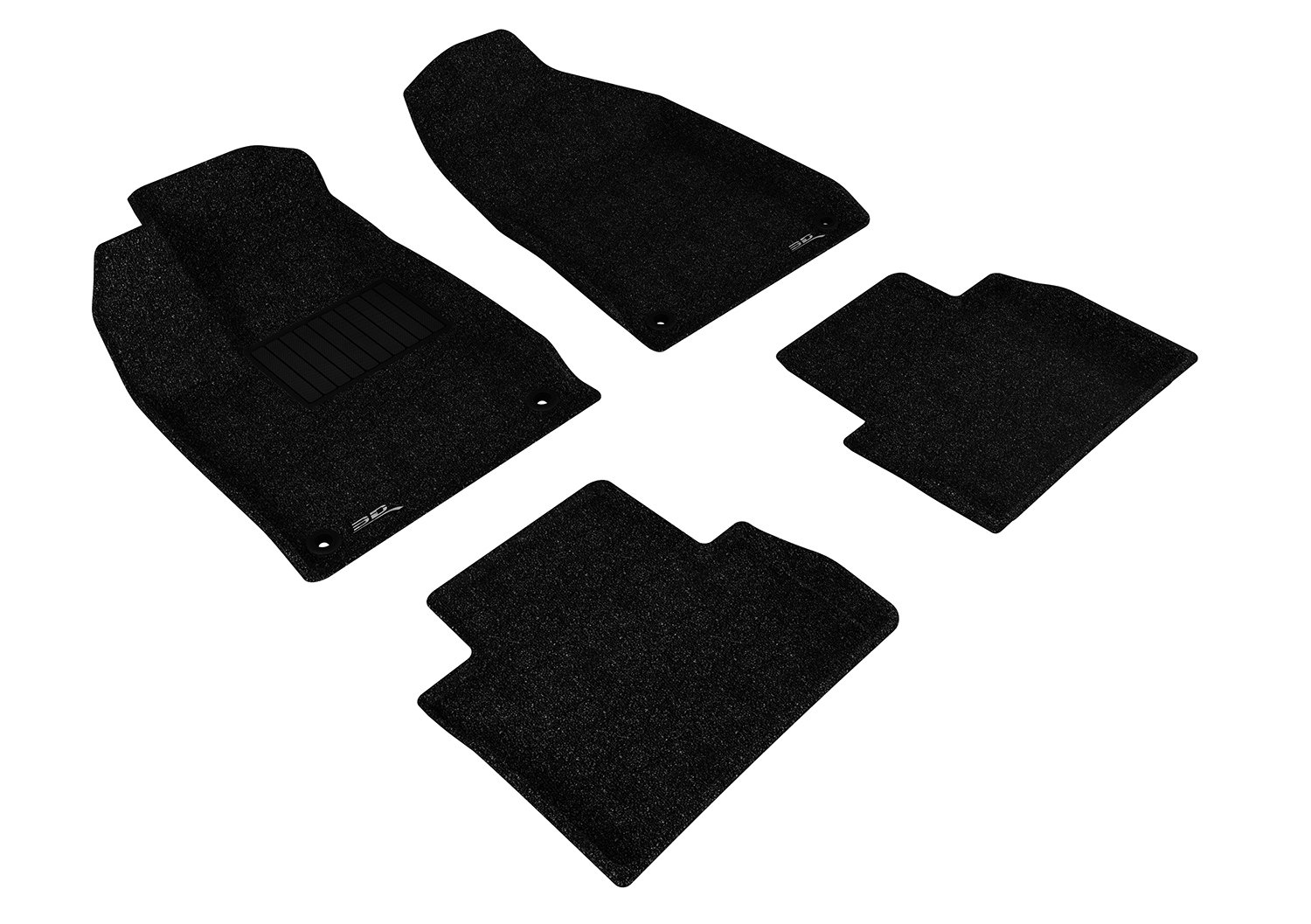 Classic Carpet Black 3D MAXpider Second Row Custom Fit All-Weather Floor Mat for Select Chrysler 200 Models L1CY00322209