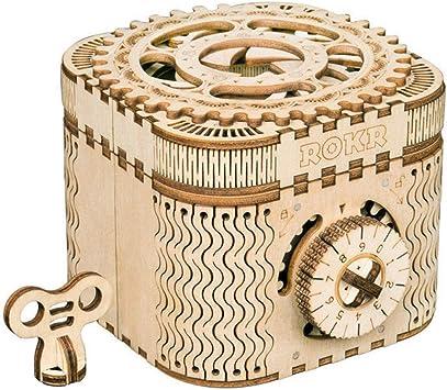ROKR Caja del Tesoro 3D en Madera,3D Rompecabezas de Madera Kit de Construcción Sin Pegamento para Niños y Adultos: Amazon.es: Juguetes y juegos