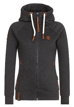 Sweater Hooded Zip Women Naketano Blonder Engel III Hoodie
