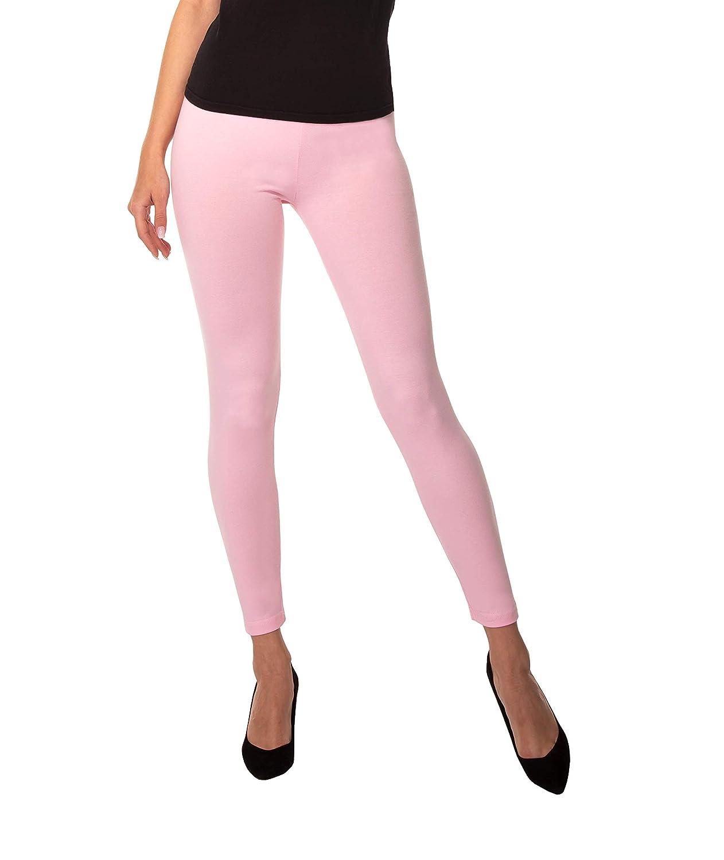 BeComfy Leggings Femme en Coton Longs Opaque Basic Beaucoup de Couleurs S,M,L,XL,2XL,3XL,4XL,5XL,6XL,7XL,8XL