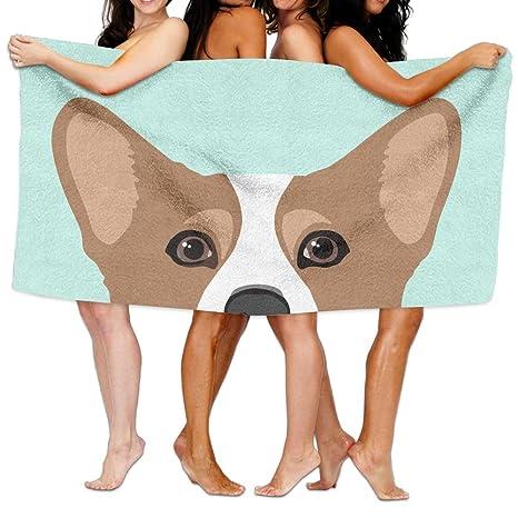 Toalla de baño de perro Corgi personalizada adulto toalla de playa toallas de baño ducha de
