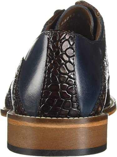 Men/'s Dress Shoes Wing Tip Oxford Gray//Black Leather STACY ADAMS TOMASELLI 25212