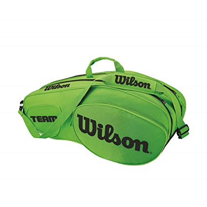 Wilson Team III Bolsa de Tenis para 6 Raquetas, Unisex ...