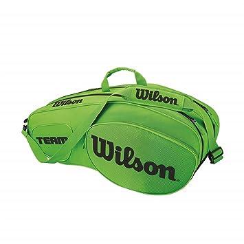 Wilson Team III Bolsa de Tenis para 6 Raquetas, Unisex Adulto ...
