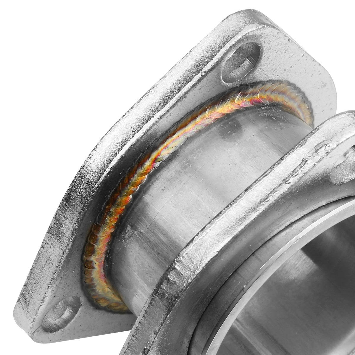 2.25 Inlet//Outlet Stainess Steel Exhaust 3-Bolt Flange Extension Adapter