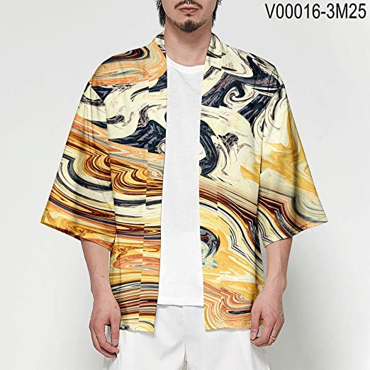 Kimono Japonés Cardigan Hombres Haori Yukata Masculino ...