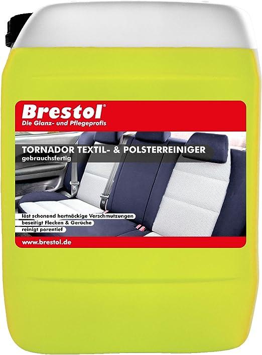 Brestol Tornador Textilreiniger 5 Liter Gebrauchsfertig Polsterreiniger Teppichreiniger Stoffreiniger Auto