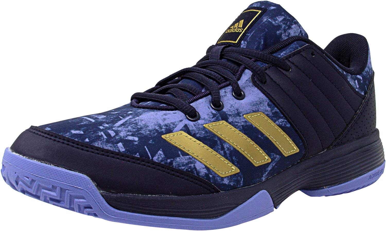 adidas Women's Ligra 5 W Volleyball Shoe, Noble Ink/Metallic Gold/Chalk Purple, 9 M US