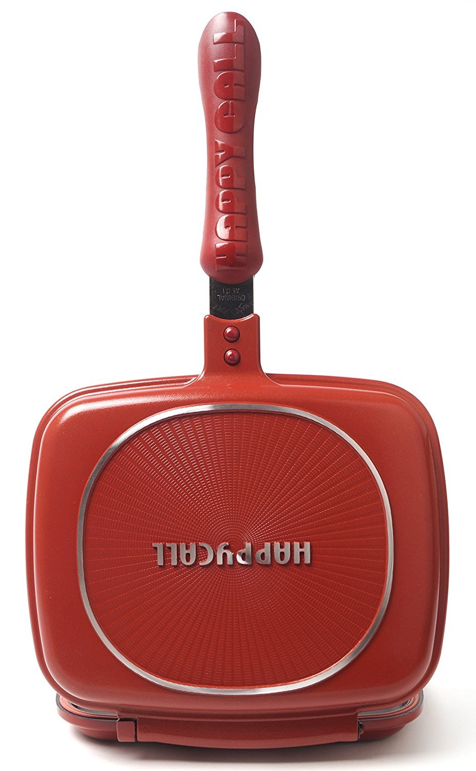 Happycall Double Sided Pressure Pan Red Cooking Cookware Frying pan new 210mm