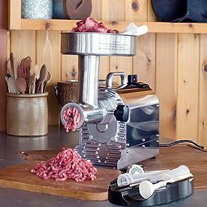 Weston Pro Series #12 Meat Grinder - 1 HP, Silver