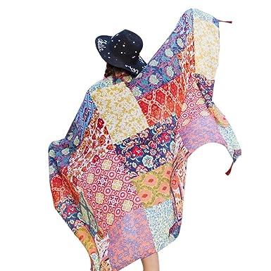 Transer ® Femelle Écharpes, Ladies Hot Ethnic style Echarpe Beach Head  Sarong Wrap Châle coton 344626e22df