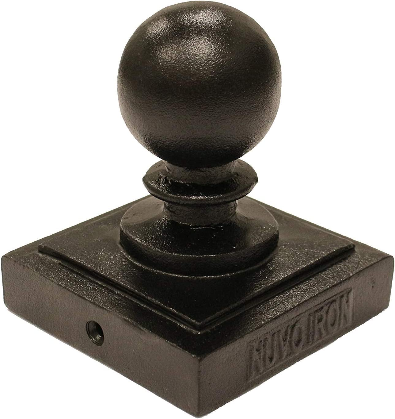 Nuvo Iron Decorative Ball Post Cap for 3.5