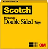 Scotch Double Sided Tape, 1/2 x 900 Inches, Boxed (665)
