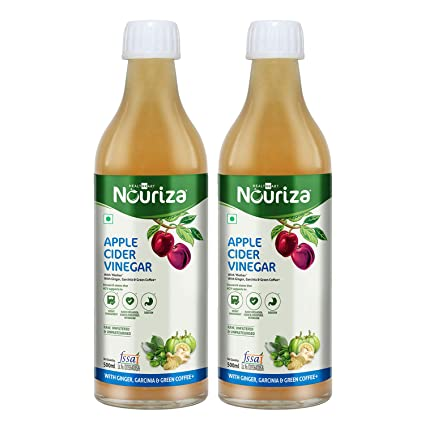 Nouriza Apple Cider Vinegar With Mother Ginger Garcinia Green Coffee 500ml Pack Of 2