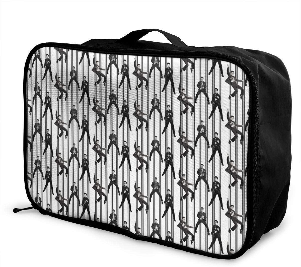 Travel Luggage Duffle Bag Lightweight Portable Handbag Retro Design Print Large Capacity Waterproof Foldable Storage Tote