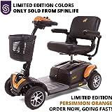BUZZAROUND EX Extreme 4-Wheel Heavy Duty Long Range Travel Scooter, Orange, 20-Inch Seat